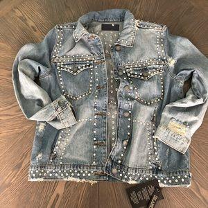 Oversized Embellished Jean Jacket